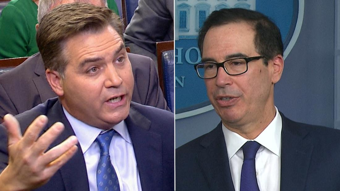 Mnuchin to CNN's Acosta: That's the most ridiculous question
