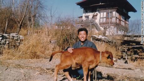Bhutan's Prime Minister as a boy on his family farm.