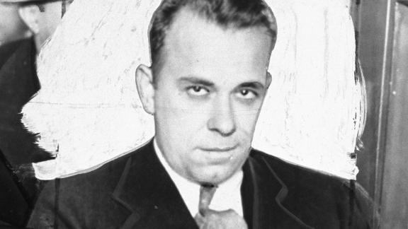 John Dillinger as he looked while being taken from Tuscon, Arizona to Crown Point, Indiana, where he later escaped.