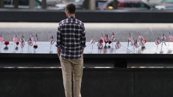 Observers attend the September 11 Commemoration Ceremony at the 9/11 Memorial at the World Trade Center on September 11, 2019,in New York. (Photo by Don Emmert / AFP)