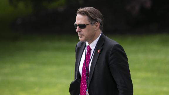 Robert Blair, senior adviser to the White House Chief of Staff is seen walking to board Marine One on the South Lawn of the White House in May.