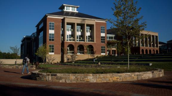 Jerry Falwell Library on the campus of Liberty University in Lynchburg, Virginia.