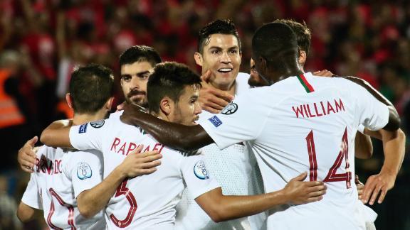 Cristiano Ronaldo scored four of his country
