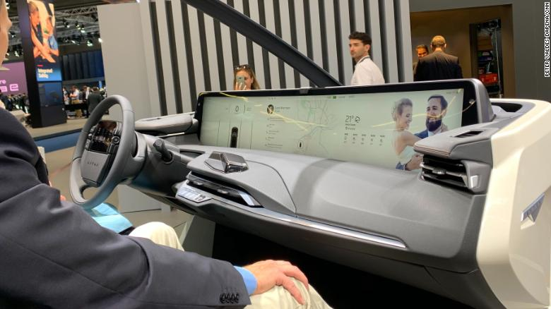 Chinese automaker Byton has even put a touch screen in the steering wheel.