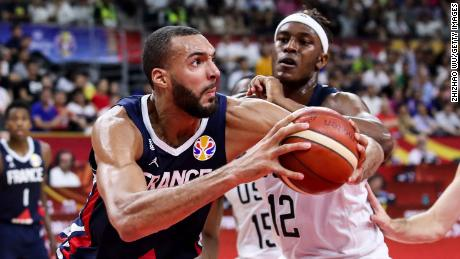 France's Rudy Gobert had 21 points, 16 rebounds and three blocks en route to upsetting Team USA.