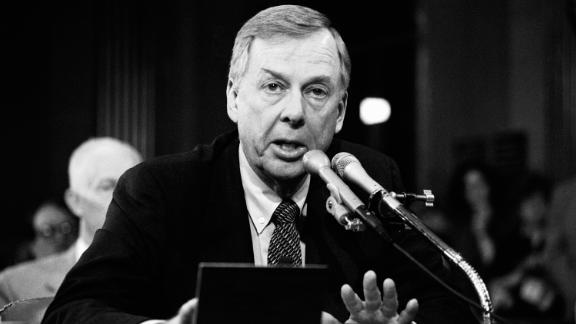 T. Boone Pickens, who died Wednesday, speaking in New York City in 1984.