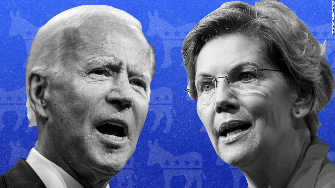 Warren and Biden locked in tight race in New Hampshire poll