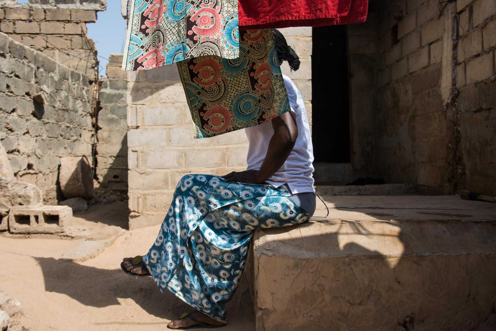 Khadija, photographed at her home in Dakar