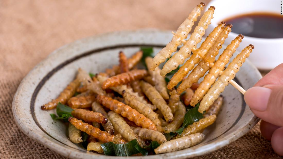 "If it's on a stick, it's better, right? So why not try some toasted mealworms, the larval form of the mealworm beetle. With a slight nutty flavor (you hear that a lot about bugs), each <a href=""https://pdfs.semanticscholar.org/ba57/ab8ec23170fd2f092587e347d38966c4c84a.pdf"" target=""_blank"">mealworm</a> is 46% protein and full of beneficial amino acids and vitamins."