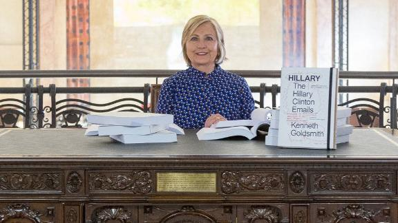 """""""Found my emails at the Venice Biennale. Someone alert the House GOP,"""" Hillary Clinton tweeted with this photo on September 12."""
