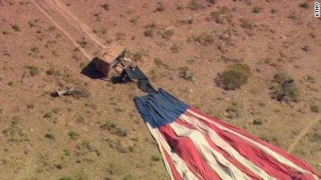 The balloon's gondola was dragged for about half a mile before coming to a stop, an FAA spokesman said.