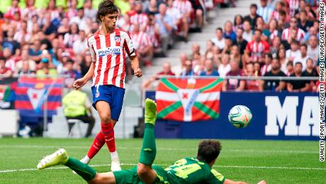 Joao Felix scores for Atletico Madrid