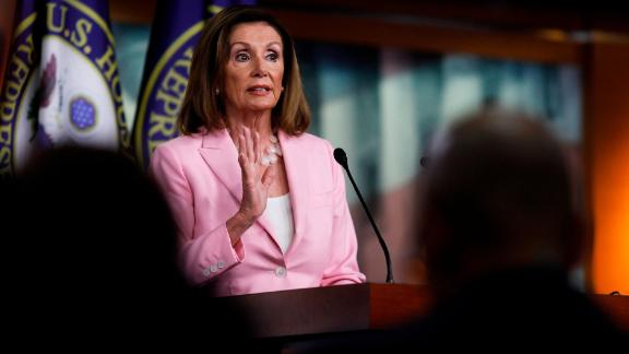 WASHINGTON, DC - SEPTEMBER 12: U.S. House Speaker Nancy Pelosi (D-CA) delivers remarks during her weekly news conference on Capitol Hill September 12, 2019 in Washington, DC. While saying she