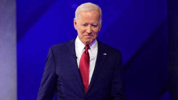 Democratic presidential hopeful Former Vice President Joe Biden arrives on stage for the third Democratic primary debate of the 2020 presidential campaign season hosted by ABC News in partnership with Univision at Texas Southern University in Houston, Texas on September 12, 2019.