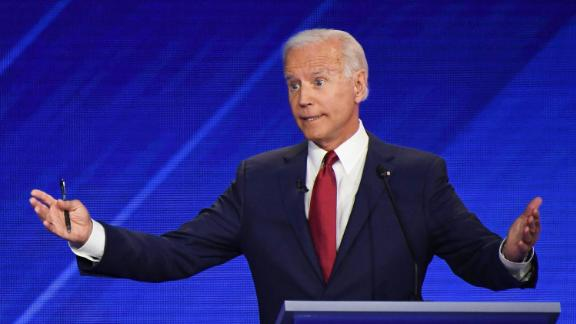 Democratic presidential hopeful Former Vice President Joe Biden speaks during the third Democratic primary debate of the 2020 presidential campaign season hosted by ABC News in partnership with Univision at Texas Southern University in Houston, Texas on September 12, 2019.