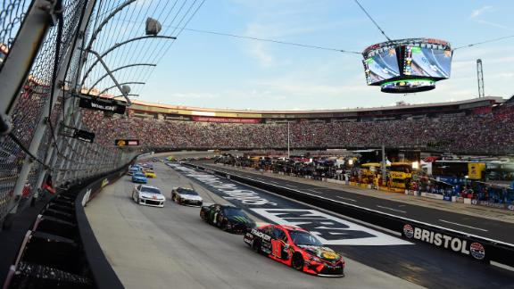 Scenes from a NASCAR race at Bristol Motor Speedway on August 17, 2019, in Bristol, Tennessee.