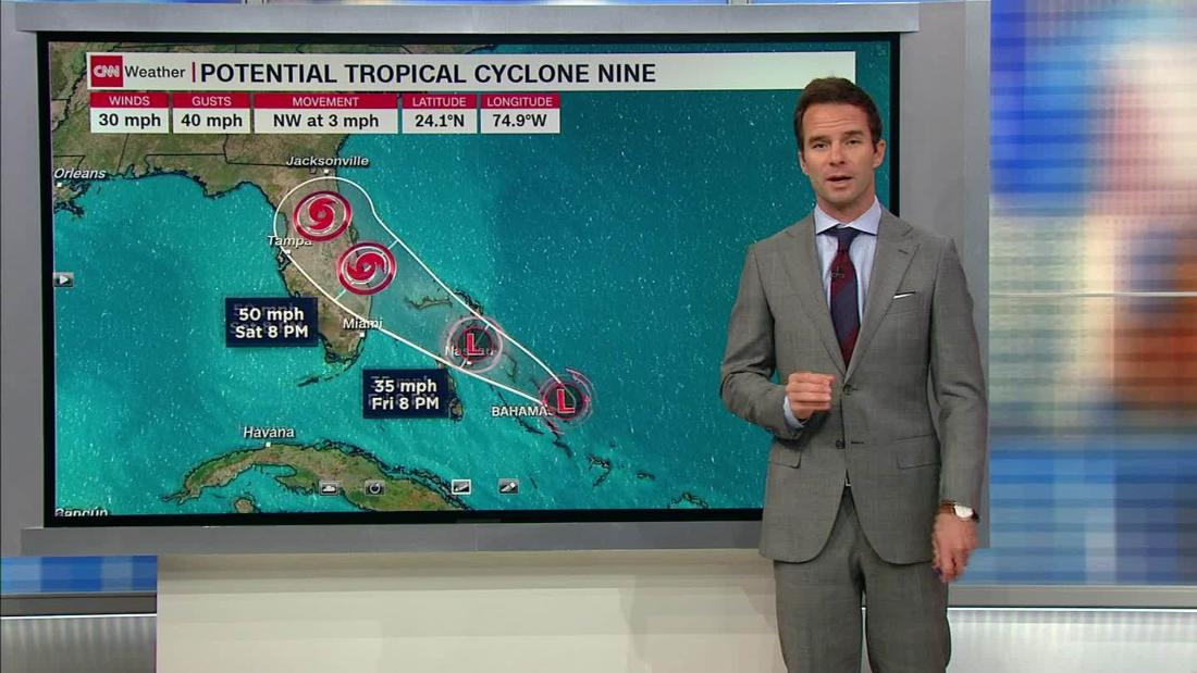 A tropical depression has formed near the Bahamas islands ravaged by Dorian