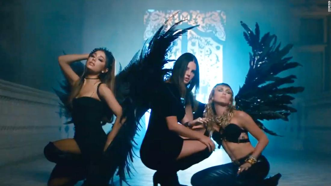 Ariana Grande, Miley Cyrus and Lana Del Rey release 'Don't Call Me Angel' video