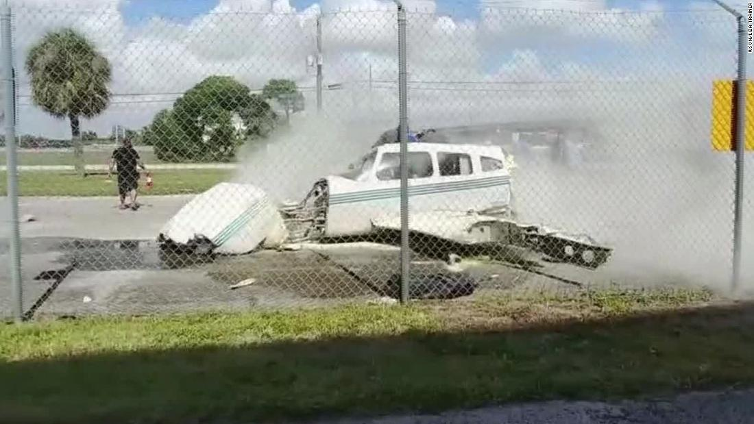 Plane's crash landing nearly takes out airport employee