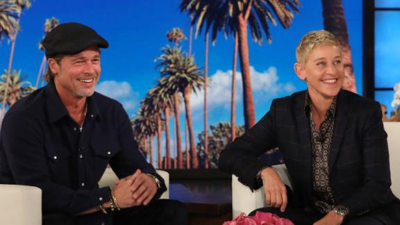 Brad Pitt surprised Ellen DeGeneres by popping up in her audience during Friday's show. (Photo by Michael Rozman/Warner Bros.)