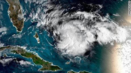 The system appraoched the northwestern Bahamas on Friday morning.