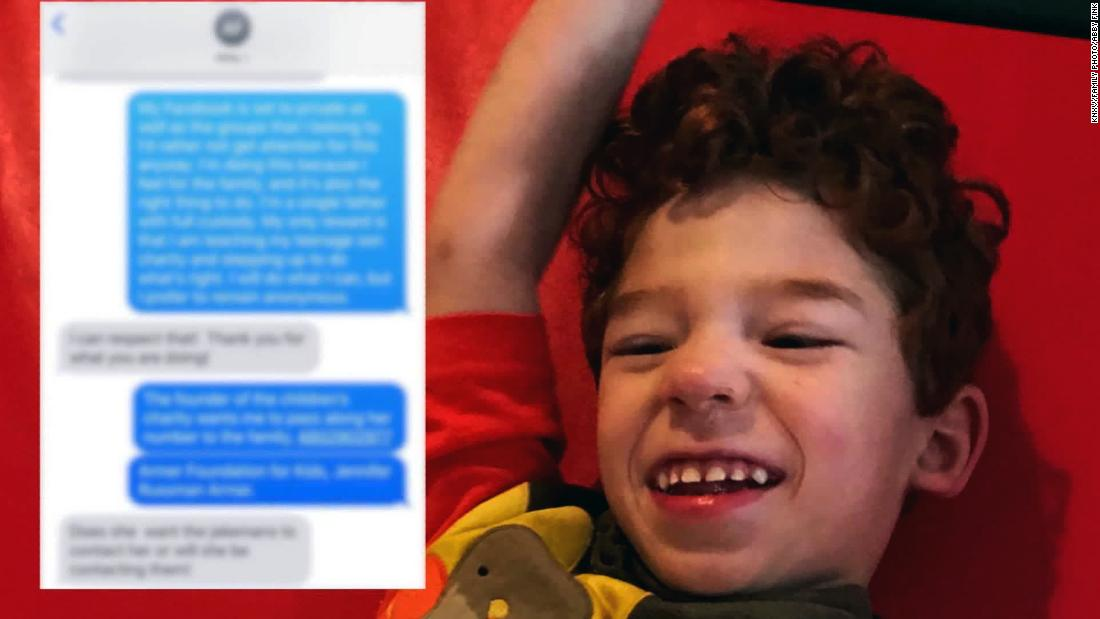 They texted the wrong number, but reached the right person -- a total stranger who offered to help