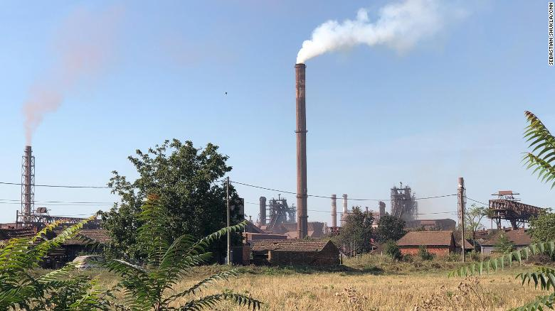 The steel plant in Smederevo, once US-owned but sold back to Serbia for $1 and now run by Heestel, a Chinese state-owned firm.