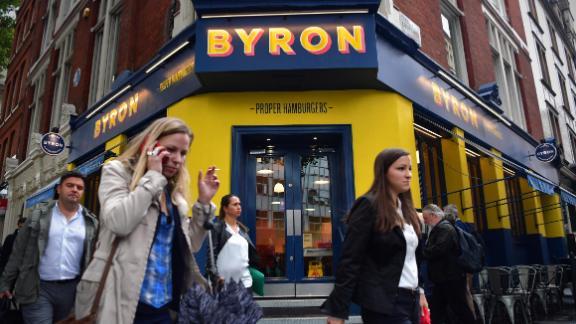A Byron restaurant in London.