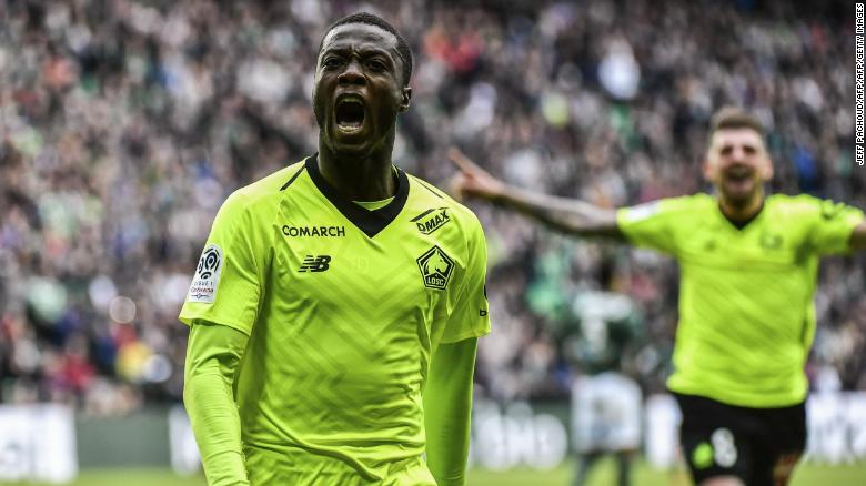 Nicolas Pepe scored 22 goal in Ligue 1 for Lille last season.