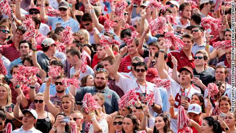 The University of Alabama and head coach Nick Saban want to see more of this during the current season: A full student section cheering on the Crimson Tide for four quarters of football.