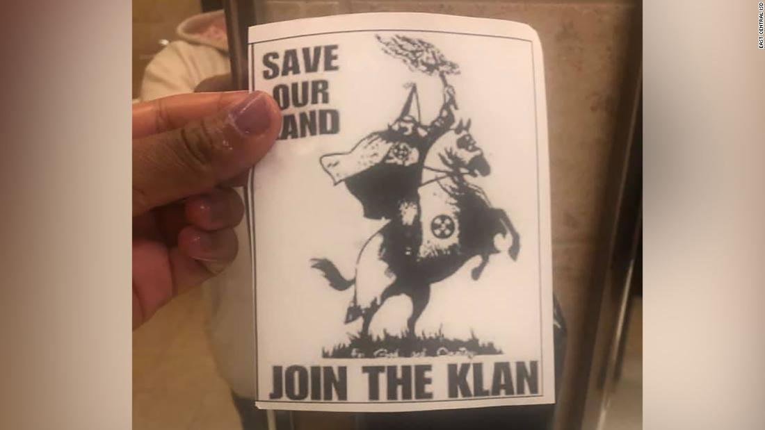 Apparent KKK recruitment flyers were found at a high school in Texas. Officials are investigating