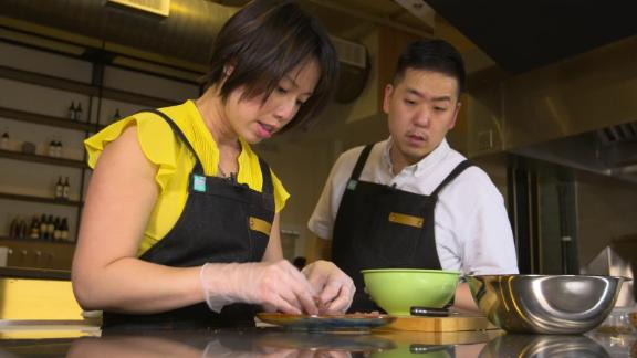 Chef Christine Ha and her husband, John Suh, are partners on The Blind Goat in downtown Houston.