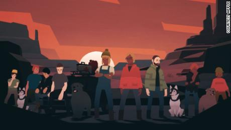 """The cast of """"Overland,"""" an indie game by Finji, which changes depending on your playthroughs and is computer-generated from a selection of assets."""