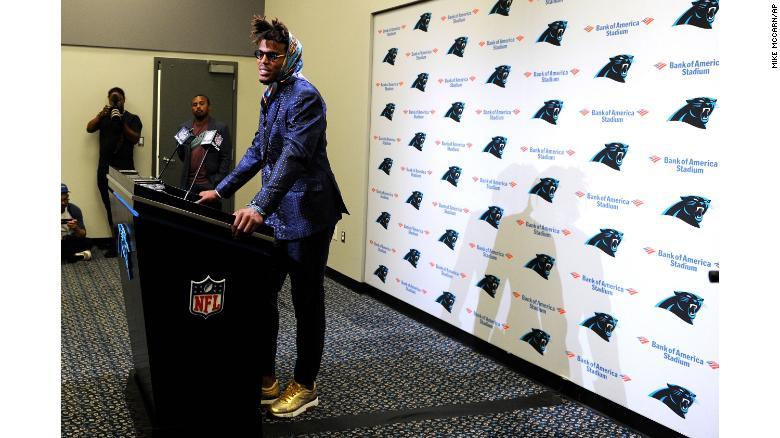 Cam Newton S Outfit Brings Out The Jokes Cnn