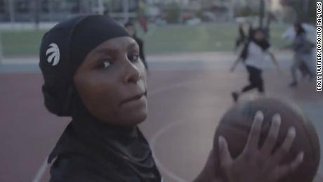 Toronto Raptors are selling a team-branded hijab