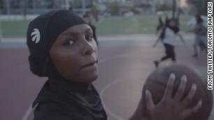 Toronto Raptors are selling a team-branded hijab