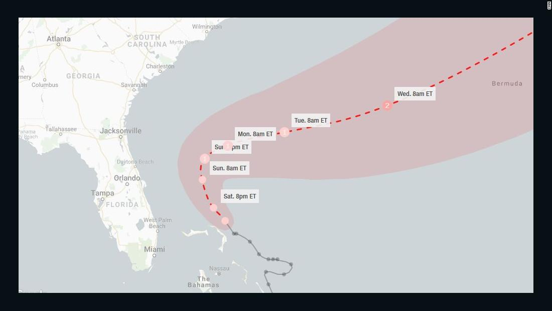 Tropical Storm Humberto gets close to Bahamian islands devastated by Dorian