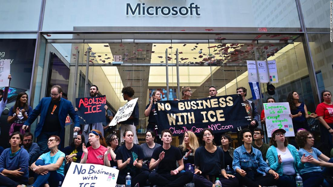 76 protesters arrested during sit-in at Microsoft store