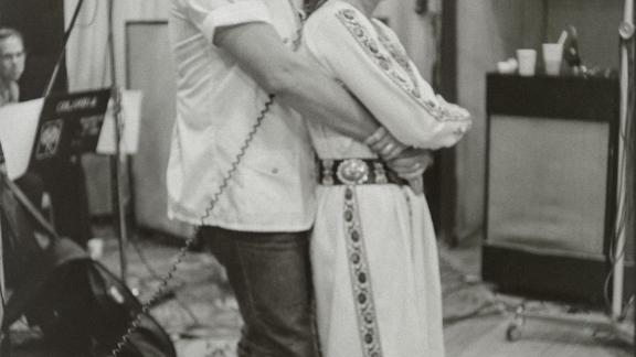 Johnny Cash and June Carter Cash, New York City, 1975. (Sony Music Archives)