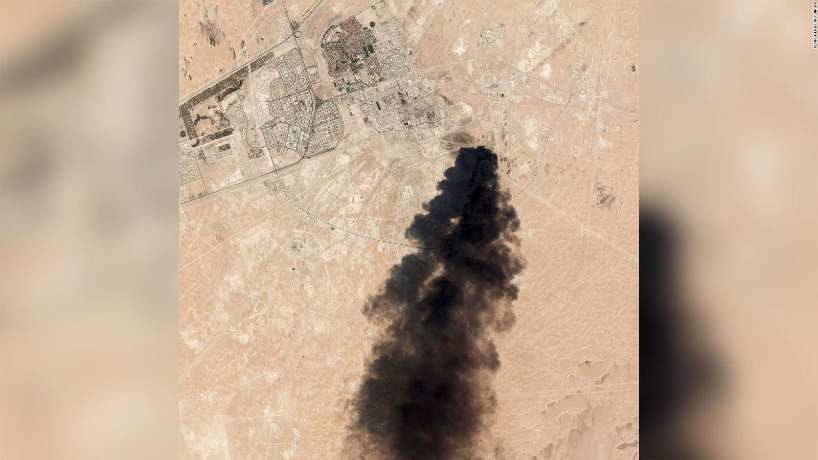 Satellite images show targets hit in oil attack, US says