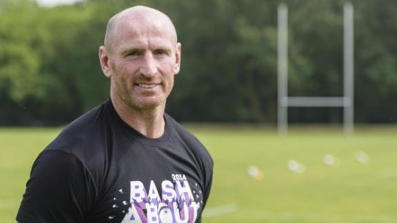 Welsh rugby legend Gareth Thomas has announced that he is living with HIV. He is pictured here in 2014 during a training session with the Berlin Bruisers, an LGBT-friendly rugby team in the German capital.