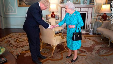 The Queen invites Boris Johnson to become Prime Minister at Buckingham Palace on July 24.