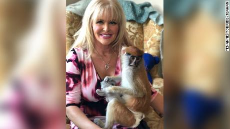 Texana McBride-Tech says she has had emotional support for monkeys for more than 20 years to help deal with PTSD.