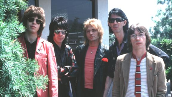(NO SUB AGENCIES IN UK, FRANCE, HOLLAND, SWEDEN, FI)  The Cars  1978  Ric Ocasek, Benjamin Orr, Elliot Easton, Greg Hawkes, David Robinson during Music File Photos - The 1970s - by Chris Walter at Music File Photos 1970's in Los Angeles, .  (Photo by Chri