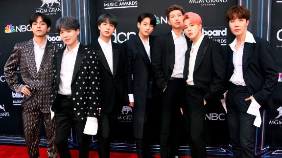 BTS attend the 2019 Billboard Music Awards at MGM Grand Garden Arena in Las Vegas on May 1, 2019.