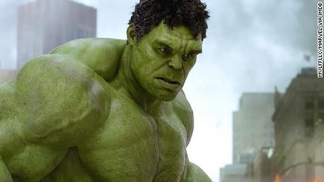 Mark Ruffalo as the Hulk in the 2012 movie 'The Avengers'
