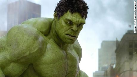 Mark Ruffalo's character as the Hulk in The Avenger's 2012 film.