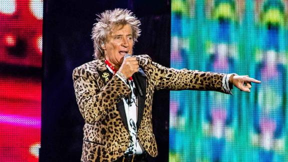 Rod Stewart performs at Ziggo Dome in Amsterdam on May 12, 2019.