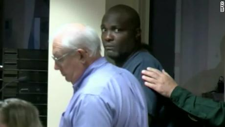 A Florida judge denied Robert Hayes, right, bail during a Monday hearing in Palm Beach County.