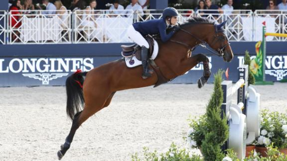 Saint-Tropez: Jessica Springsteen rode RMF Zecilie to her very first individual victory on the Global Champions Tour.